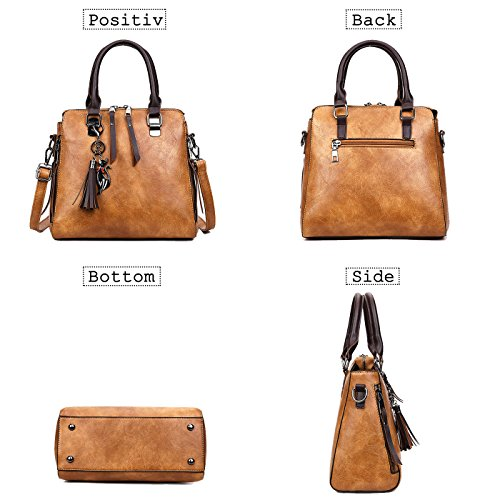Coolives designer Brown handbags Vintage Bag Shoulder women's leather ladies purse 775rwC