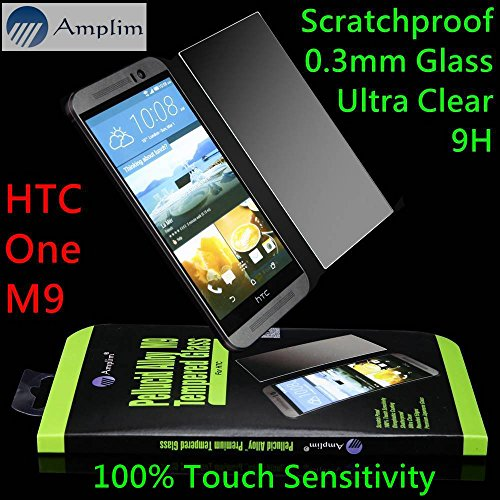 Tempered Glass Screen Protector for HTC One M9 (Clear) - 9