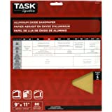 Task Tools SA16080 9-Inch by 11-Inch Signature Aluminum Oxide Sandpaper, 80 Grit, 5-Pack