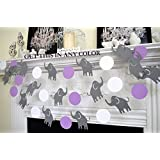 Elephant Garland, Baby Shower Decorations, Elephant Shower Decoration,  Nursery Decoration, Purple Grey