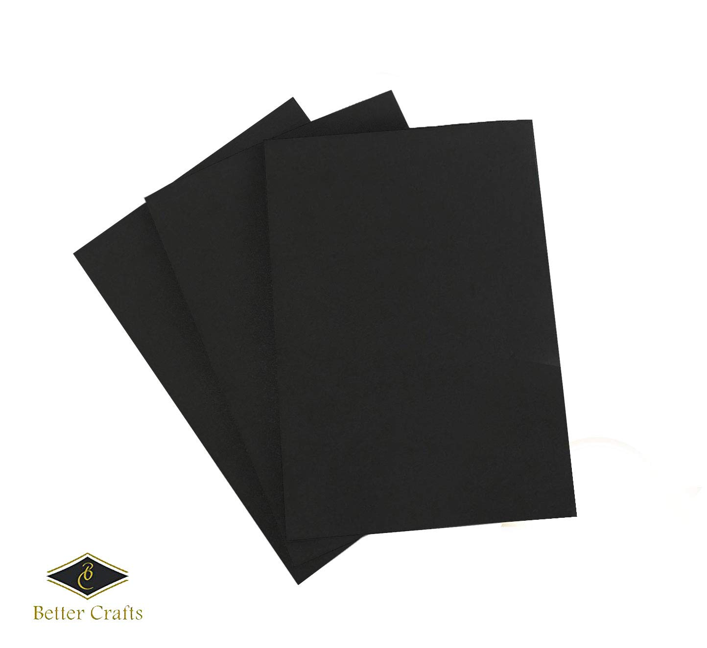 Eva Foam Sheets in Black, 9x12 Inches, 6mm- Extra Thick! Great Craft Foam Paper (30)