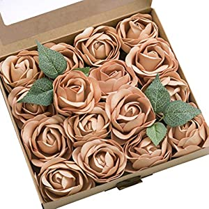 Ling's moment Real Looking Fake Peony Artificial Peonies Flowers w/Stem for DIY Wedding Bouquets Centerpieces Arrangements Party Baby Shower Home Decorations 3