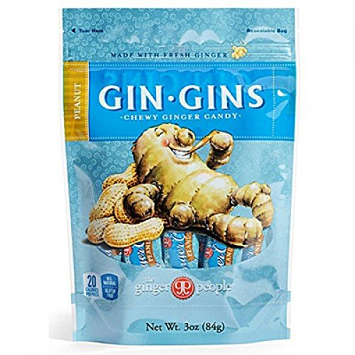 Gin Gins Peanut Chewy Ginger Candy By The Ginger People by The Ginger People