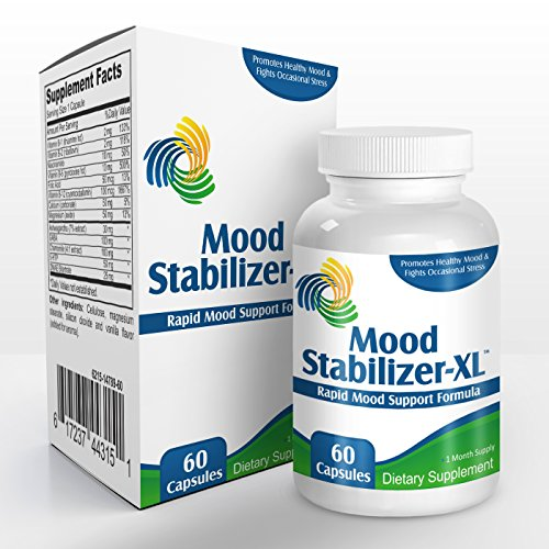 Mood Stabilisateur-XL: Supplément Mood Support (vitamine B-1, de la vitamine B-2, Niacinamide, la vitamine B-6, acide folique, la vitamine B-12, calcium, magnésium, Ashwagandha, le GABA, camomille, 5-HTP, DMAE bitartrate )