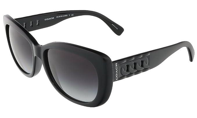 5c547d8e3b2e Image Unavailable. Image not available for. Colour: Coach Curbchain Cat Eye  Sunglasses - L950 - Black