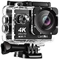 CamGo 4K 16MP WiFi HD Underwater Waterproof Camera 30M Sports Camcorder with 170° Wide Angle Lens