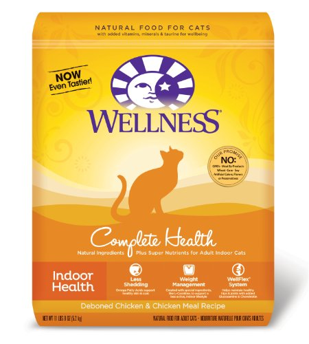 Wellness Complete Health Natural Dry Cat Food Indoor Health Chicken Recipe 11.5-Pound Bag