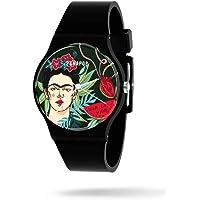 Panapop | Portrait | Reloj Pulsera Mujer | Correa Silicona Negro | Frida Kahlo | Licencia Oficial