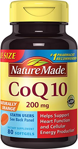 Nature Made Coq10 200 Mg, Naturally Orange,Value Size, 80-Count