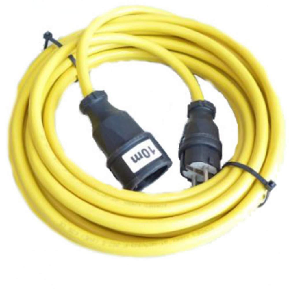 Cable alargador para lijadora de banda de borde l/ägler 3/x 2,5/mm/² en amarillo 10/metros
