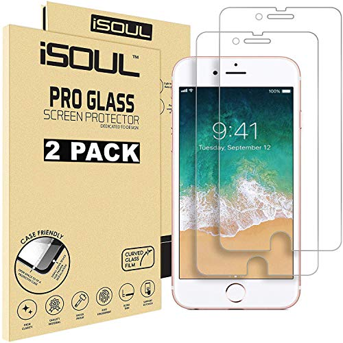 iSOUL [2 Pack] Screen Protector for Apple iPhone 8 iPhone 7 6S 6 Tempered Glass Film, 2.5D Edge 4.7-inch [3D Touch]