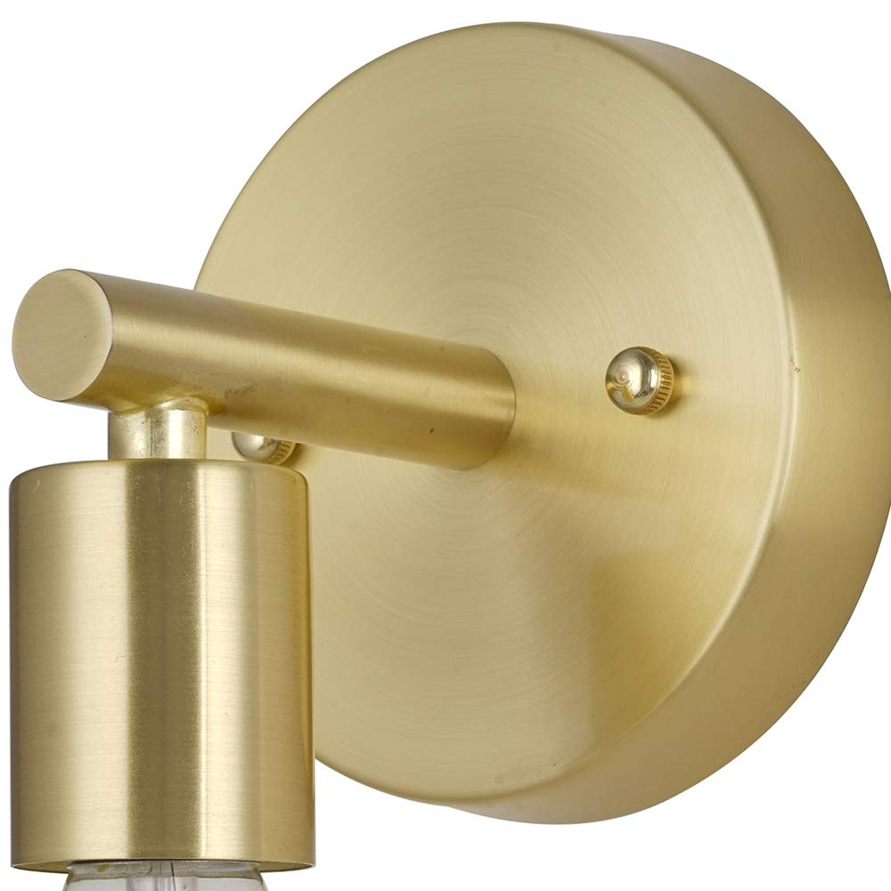 Rivet Modern Wall Sconce with Bulb, 9.13''H, Satin Brass by Rivet (Image #6)