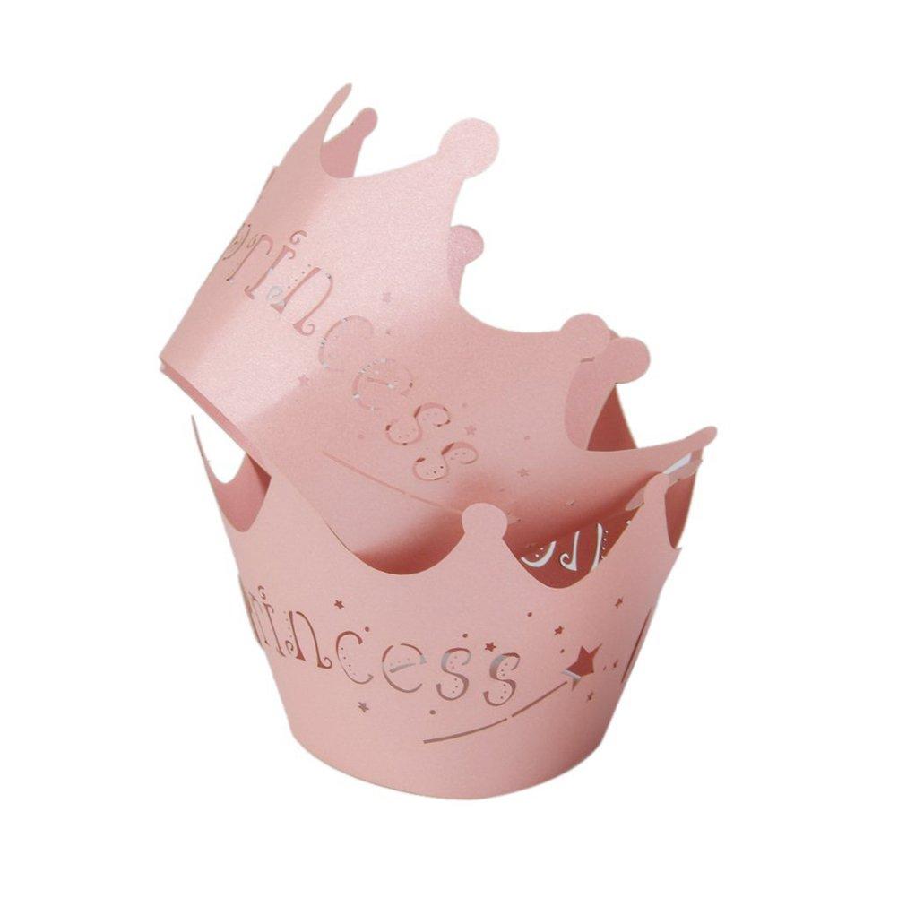 ULTNICE Cup Cake Wrapper Deko Embalajes Princesa Pattern Muffin Moldes Papel para Boda Cumplea/ños Baby Ducha 50pcs Color Rosa