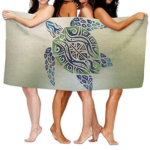 TOGEFRIEND Tribal Sea Turtles Clipart Spa Wrap Bath Shower Towel ()