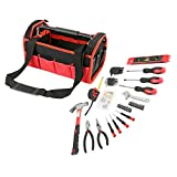 Olympia Tools 83-142 Red & Black Tool Bag Set (56 Piece)