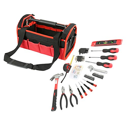Olympia Tools 83-142 Red & Black Tool Bag Set (56 (10' Torpedo Level)