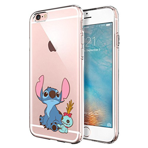 iPhone 6 Plus CASE,iPhone 6S Plus CASE, Stitch Look up to The Sky 3D  Printed Soft Clear Cute Case
