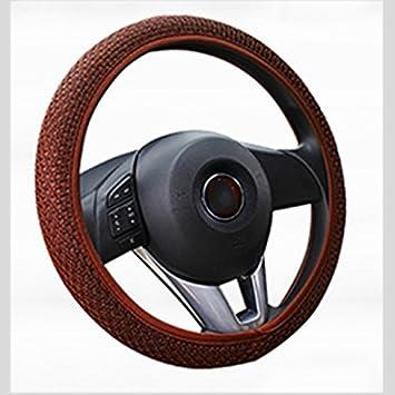 Sedeta/® Venta caliente de la cubierta del volante tira auto universal hecha a mano antideslizante cubierta de la rueda negro cubierta de la rueda doblada cubierta de la rueda de cromo cambio de la cub