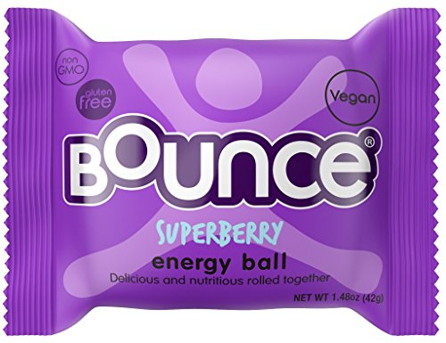 - Bounce Natural Protein Energy Ball, Gluten-Free Vegan Snack with Protein - Superberry, 1.48 Ounce (Pack of 12)
