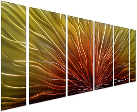 Pure Art Stunning Abstract Aluminum Metal Wall Art