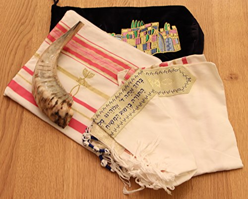 Standard Tallit Bag (Christian Gift pack Shofar + bag and a Pink Tallit + bag from the Holy)