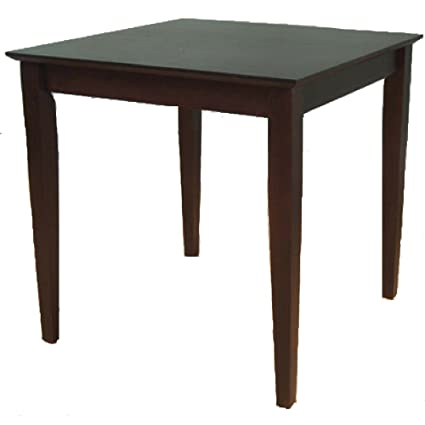 Remarkable Amazon Com 4 Person Dining Table Square Wooden Espresso Home Interior And Landscaping Oversignezvosmurscom