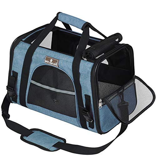 HiCaptain Soft Side Pet Carrier with Top Mesh Window Perfect for Small Dog and Cat up to 10 lb