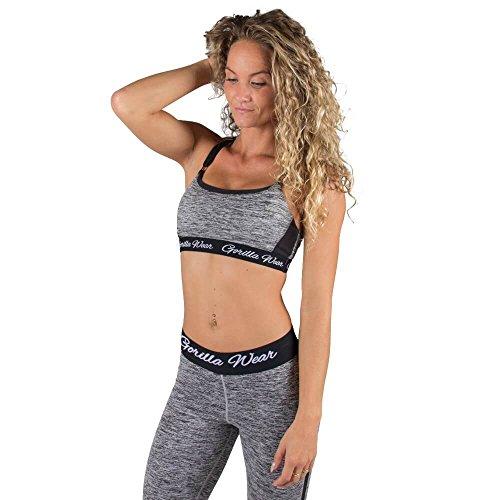Gorilla Wear Aurora Bra - Mixed Gray / mix grau - Bodybuilding und Fitness Kleidung für Damen
