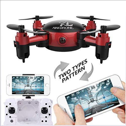 GAX Drone Pieghevole Quadcopter Aerea Fotografia Mini Telecomando Aeromobili-Follow Me, Altitudine Hold, Batteria Intelligente, Lunga Distanza di Controllo,Red