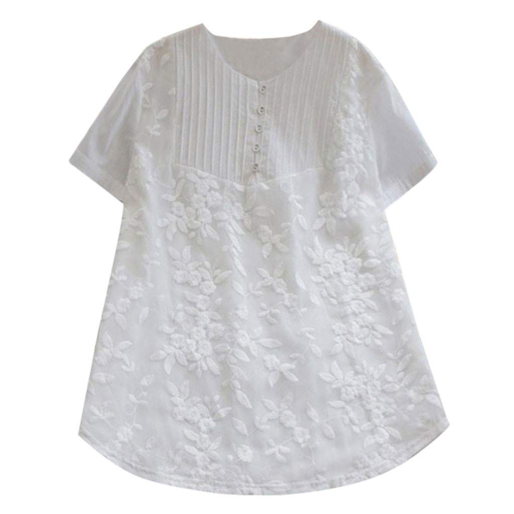 SMENGG T Shirt Donna Top Giacca a Maniche Corte in Cotone a