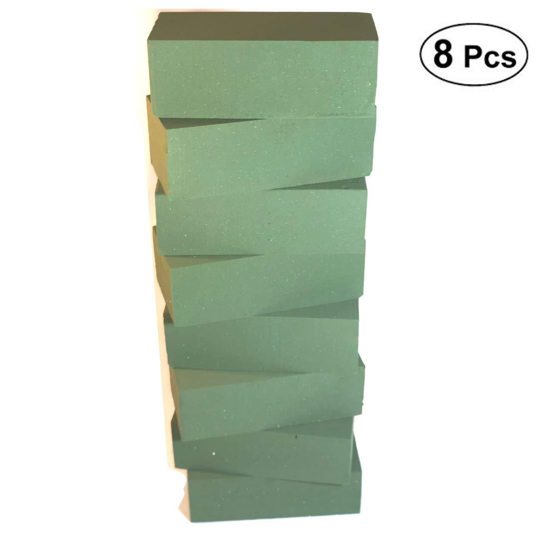 Premium Green 8pc Wet Floral Foam Blocks for Fresh Floral Arrangements I Sculpting Foam Flower I Foam Brick Cube I Floral Arranging Supplies