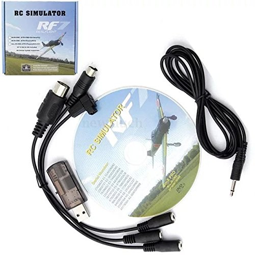 Paddsun US 12 in 1 USB Simulator Cable Support FMS G4/G4.5/G5 XTR AeroFly RC RealFlight