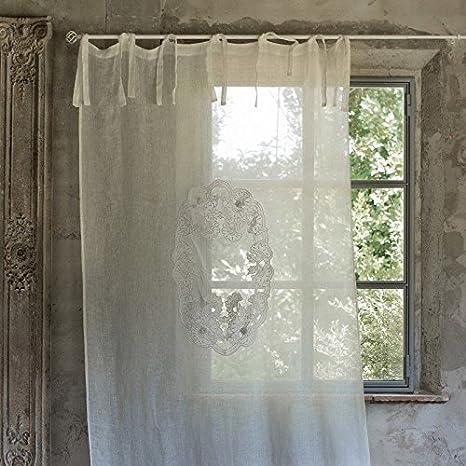 Blanc Mariclo - Tenda MONIQUE Ecru 140 x 290 cm a Nouettes: Amazon ...