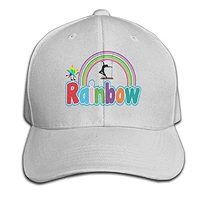 DIYoDGG Rainbow with Swing Dancing Baseball Cap,Unisex Plain Hat,Adjustable Caps