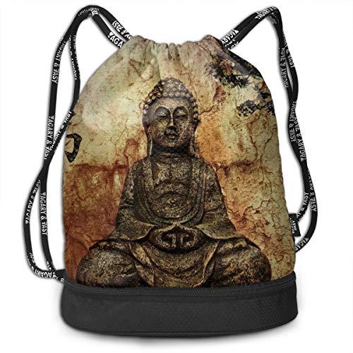 - Drawstring Bag Gautama Buddha Shoulder Bags Travel Sport Gym Bag Print - Yoga Runner Daypack Shoe Bags With Zipper And Pockets