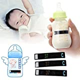 hermosotodo Practical Baby Care Digital Temperature Test Strip LED Milk Bottle Measuring Card Thermometer Sticker