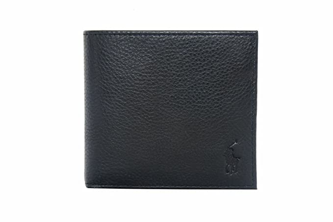 d42c5c217547 Ralph Lauren Mens Leather Wallet in Black with Coin Pocket: Amazon.co.uk:  Luggage