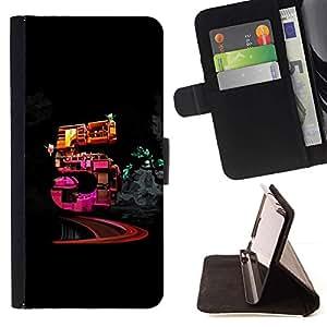 For Sony Xperia Z1 Compact / Z1 Mini (Not Z1) D5503 Case , Cinco- la tarjeta de Crédito Slots PU Funda de cuero Monedero caso cubierta de piel
