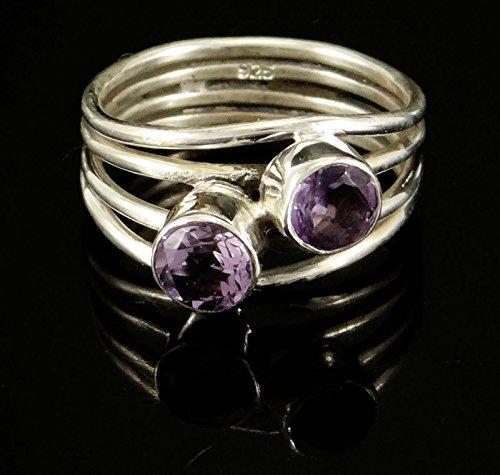Banithani 925 argent sterling améthyste pierres précieuses incroyable bijoux fantaisie bague