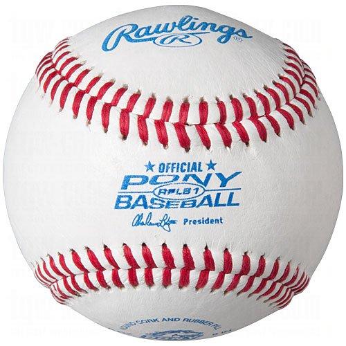 (Rawlings Raised Seam Tournament Grade Pony League Baseballs, 12 Count, RPLB)