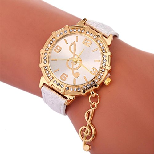 Watches for Women Clearance, Fashion Luxury Wrist Watch Musical Notes Crystal Rhinestone Casual Watches Jewelry Accesssory (Note Rhinestone)