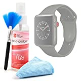 DURAGADGET 3-in-1 Multi-Purpose Cleaning Kit with Microfibre Cloth, Fluffy Brush and Non-Toxic Fluid for The Apple Watch Series 3 | Apple Watch Series 2 | Apple Watch (Standard, Edition, Sport)