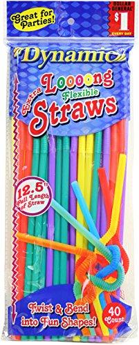 Extra Long Flexible Straws 36 Pack: 1440 Total Straws! by MW Polar