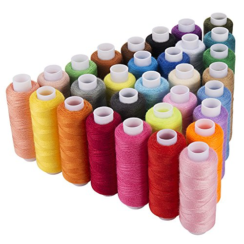 iFergoo Sewing Thread Assortment Coil 30 Colors 250 Yards Each Polyester Thread Sewing Kit All Purpose Polyster Thread for Hand and Machine Sewing by