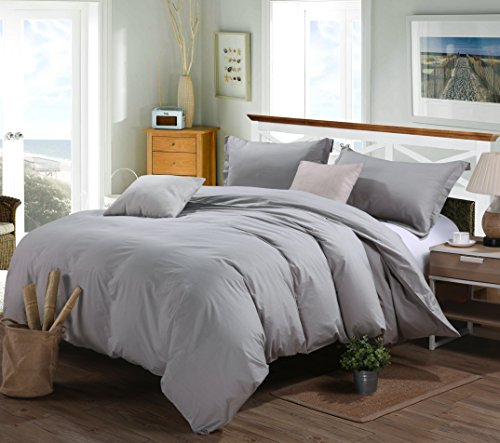 Price comparison product image Rural Dandelion Luxury Duvet Cover Bedding Set - Hotel Quality, Comfortable, Breathable and Soft- 3 Piece, Full/Queen, Gray