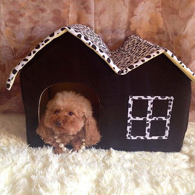 New Soft Warm Cotton Pet Dog Cat Bed House Kennel Cushion Basket Cottage Coffee ()