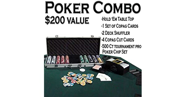 Amazon.com: Texas Hold em poker Combo Pack w/Table parte ...