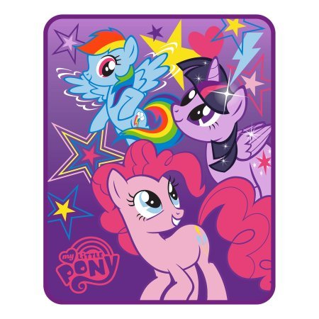 Your Little One Will Love Snuggling up With Silky Soft,Super Cute,Cozy and Warm My Little Pony 'Starry Sky' Kids Silk Touch Throw,Twin,Purple/Multicolor,Great Gift ()