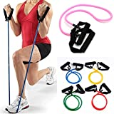 OUTERDO Latex Resistance Bands For Yoga Pilates Exercise Workout Fitness GYM Sports