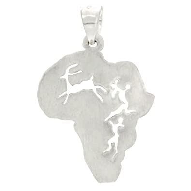 Sterling silver continent of africa pendant amazon jewellery sterling silver continent of africa pendant aloadofball Images